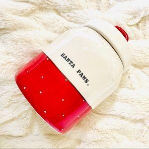 NWOT Rae Dunn Christmas Santa Paws Treat Jar